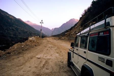 Thangu valley to Gurudongmar Lake