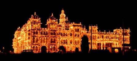 Illuminated Mysore Palace