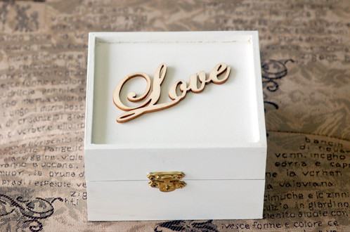 Personalized white wedding wooden ring bearer box urban bride personalized white wedding wooden ring bearer box junglespirit Image collections