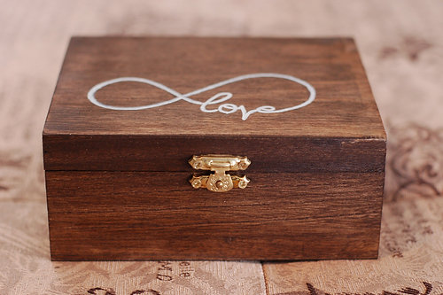 Urban bride kitchener wedding accessories necklaces veils personalized infinity love wooden ring bearer box junglespirit Images
