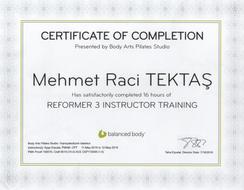 Reformer Pilates Modül 3 Eğitmen Eğitimi