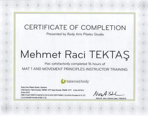 Mat Pilates Modül 1 ve Pilates Hareket Prensipleri
