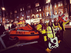 RNLI stand outside The Kings Head