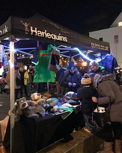 Harlequins stand at the Teddington Christmas Lights Up 2018