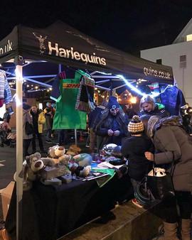 Harlequins stand at the Teddington Christmas Lights Up 2018