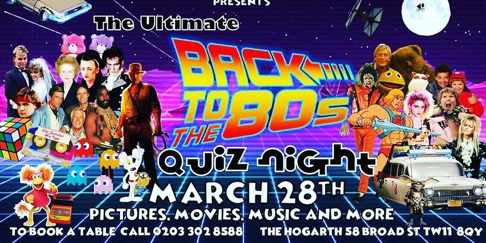 Back To The 80's Gig Pub Quiz