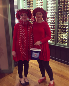 Collecting for Red Nose Day