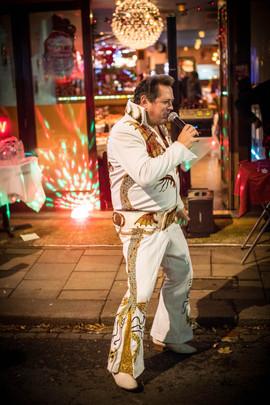 Elvis has left the building outside Zaika