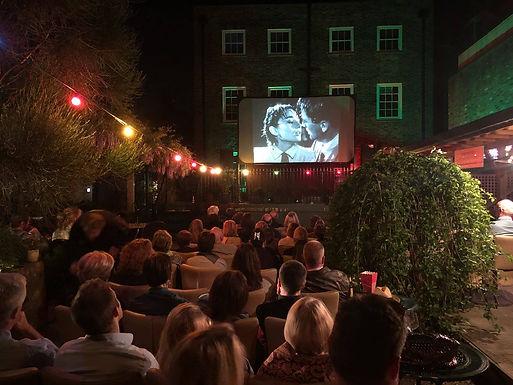 Outdoor cinema and meal at Shambles