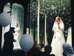 Bridal shop, The Dress, thrilling their audience with their live window display