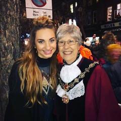2017 X-Factor Finalist, Talia Dean with Deputy Mayor of Richmond Cllr Mona Adams