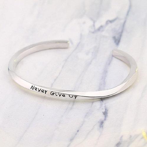 Never Give Up Bracelet (Platinum Color)
