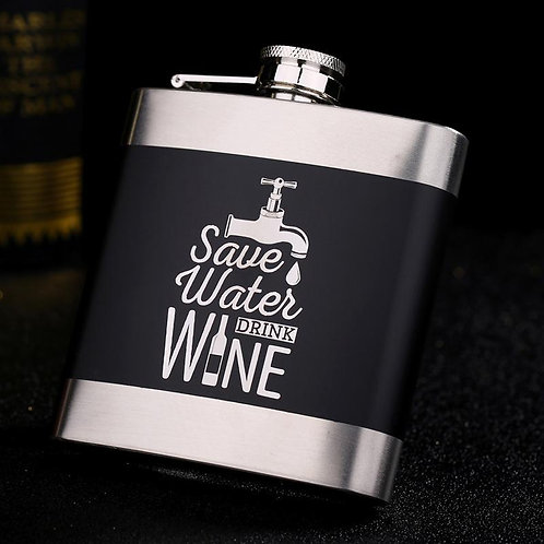 Stainless Steel Quote Flask