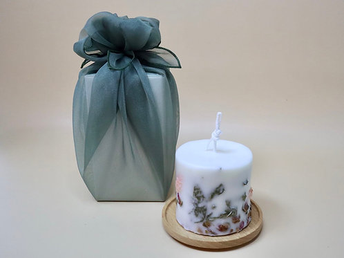 Flower Candle - 210g with Bojagi Packaging