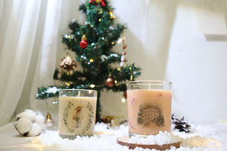 Handmade container candle decoration by Happy Together in Singapore