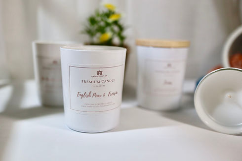 Handmade scented soy candles by Happy Together in Singapore
