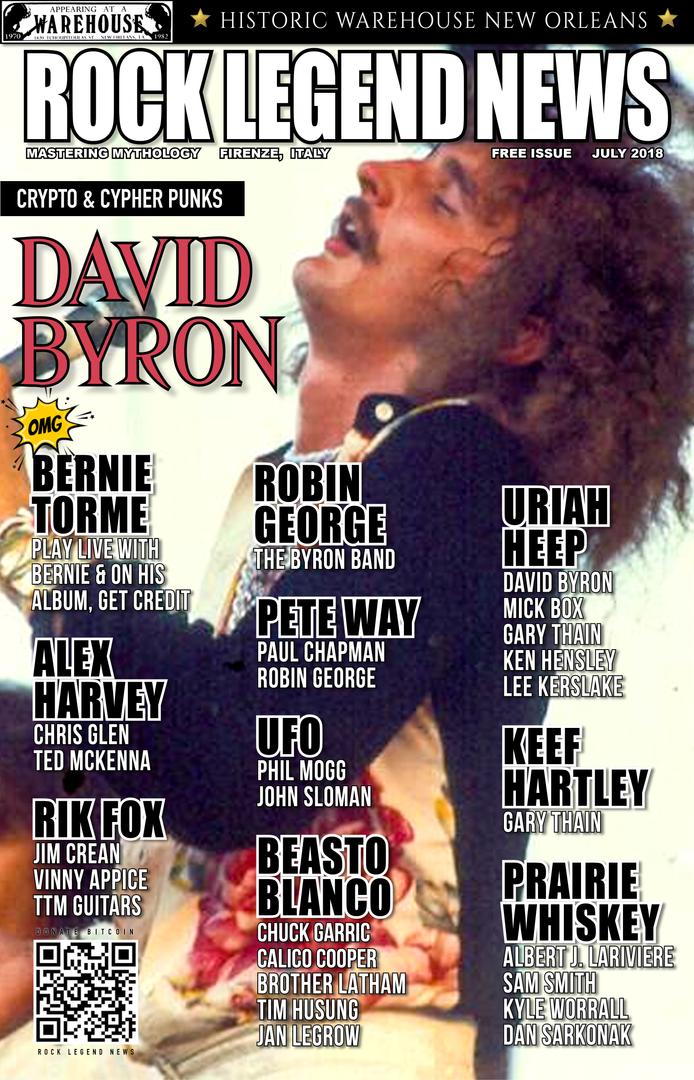 July 2018 Featuring David Byron