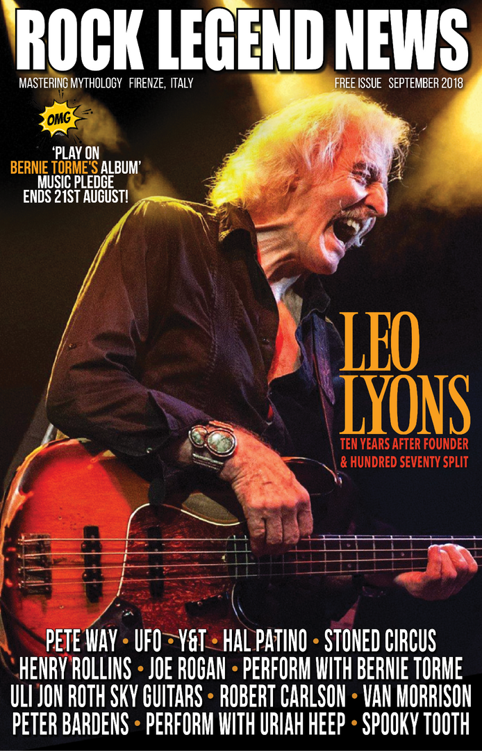 August 2018 Featuring Leo Lyons