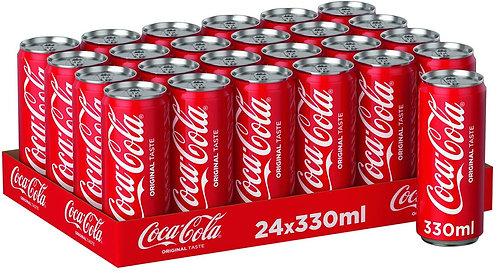coca cola canette paquet 24p