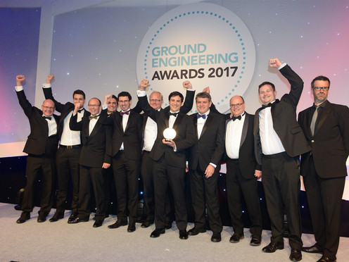 OTB win Technical Excellence Award at Ground Engineering Awards 2017