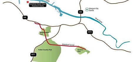 Shieldhall Tunnel Scottish Water map waste water tunnel