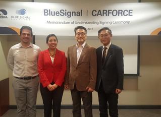 BlueSignal Knocks on Door of U.S. market with Signing of MOU with CarForce