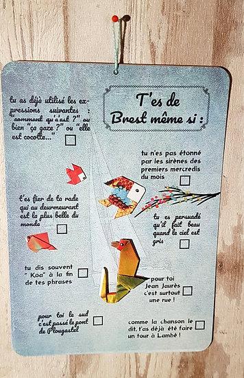 """Carte """"Tu sais que tu es de Brest même"""""""
