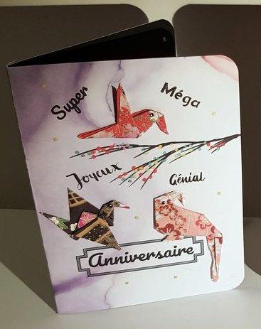 "Cartes popugamis : ""Bel et heureux anniversaire"""