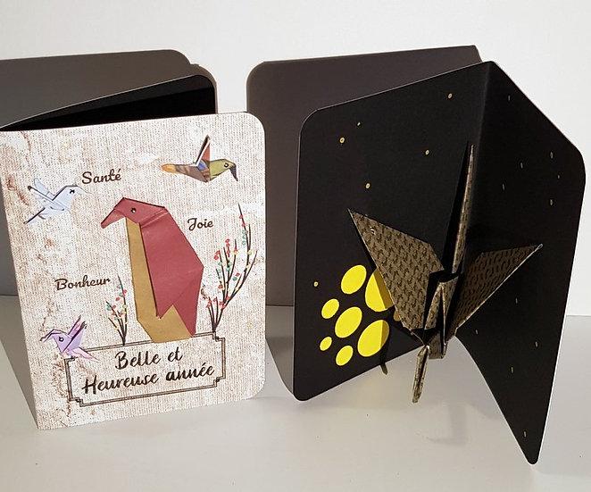 "Cartes popugamis : ""Belle et heureuse année"""