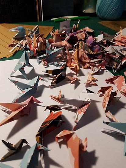 Origamis porte-bonheur