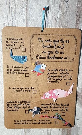 """Carte """"Tu sais que tu es de Bretagne si..."""""""