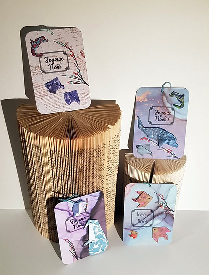 "P'tite carte origami ""Joyeux Noël"""