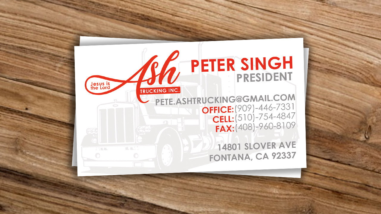Ask Trucking Business Card