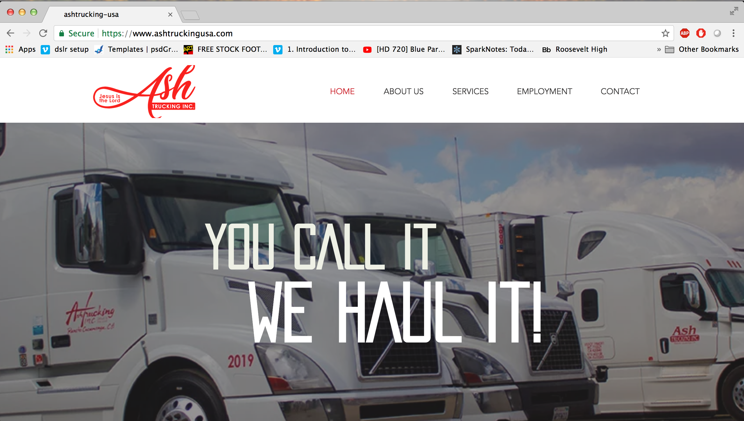 Ash Trucking Website