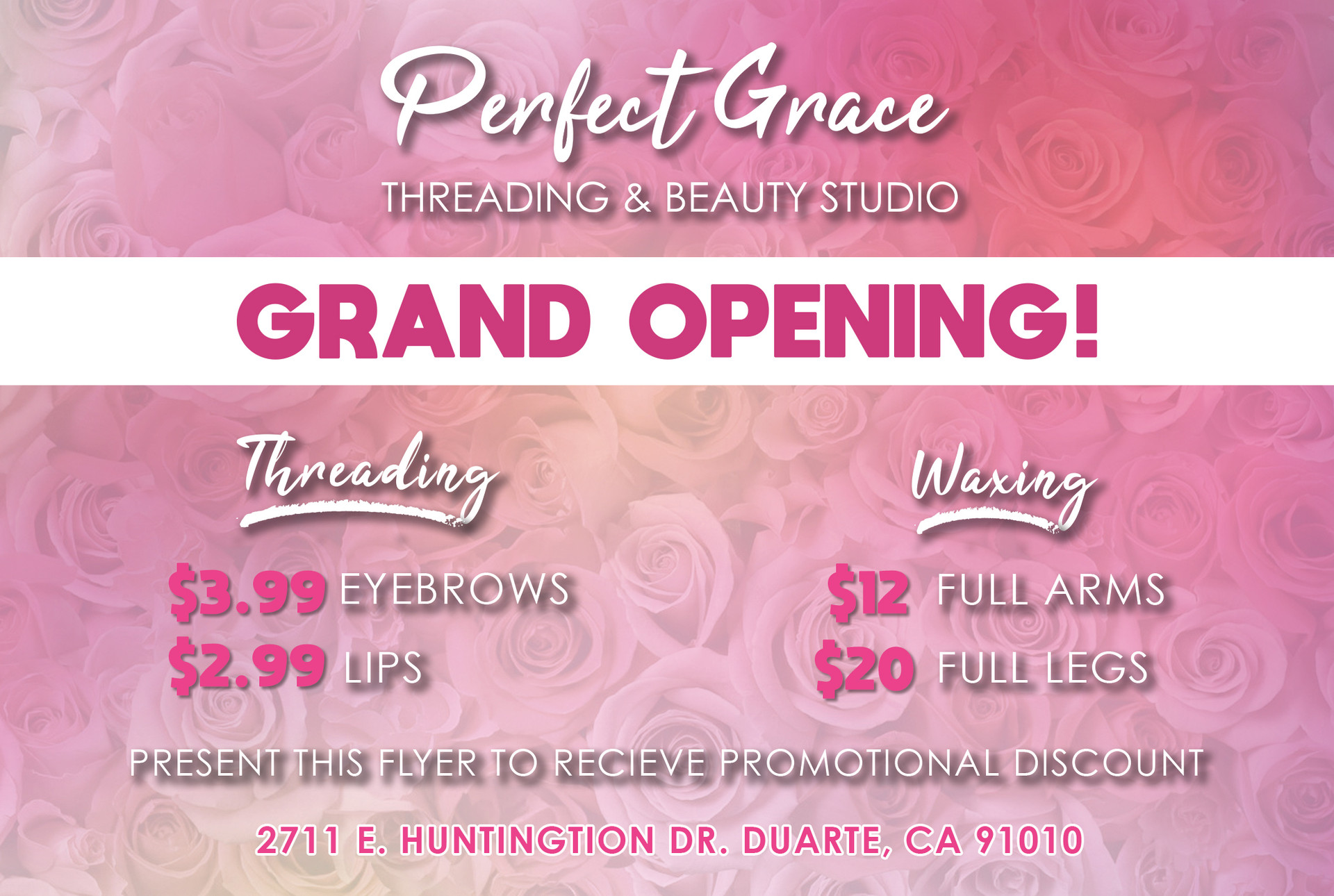 Grand Opening Promotion