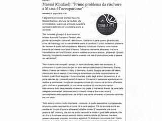 "Massai (Confael): ""Primo problema da risolvere a Massa è l'occupazione"""