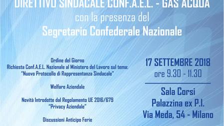 Direttivo Sindacale Conf.A.E.L. - Comparto Acqua e Gas