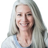 Smiling Mature Woman with Gray Hair_edit
