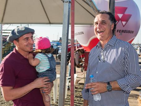 Cristian Rodríguez acompanha provas do Bocal de Ouro
