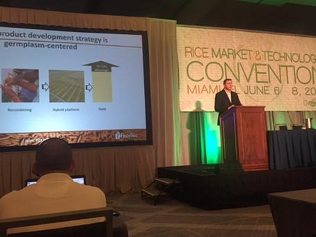 RiceTec marca presença na maior convenção de arroz das Américas