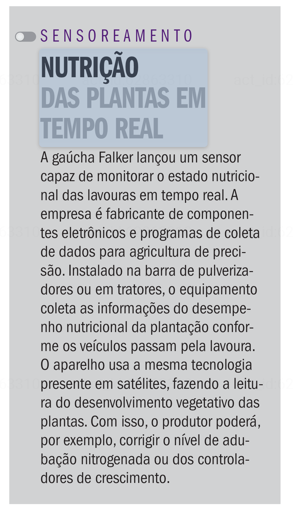 Cliente: Falker