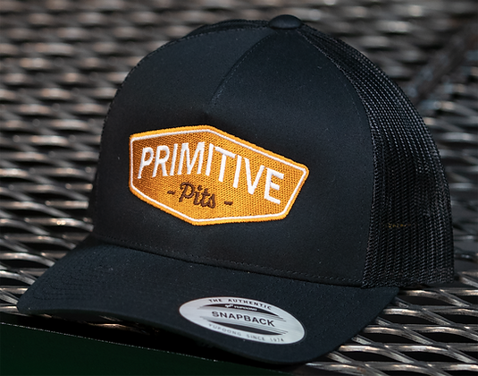 Primitive Pits Black Trucker Hat