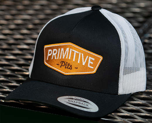 Primitive Pits Black & White Trucker Hat