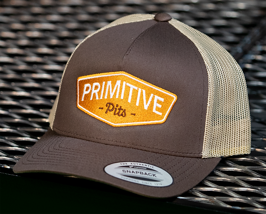 Primitive Pits Brown & Tan Trucker Hat