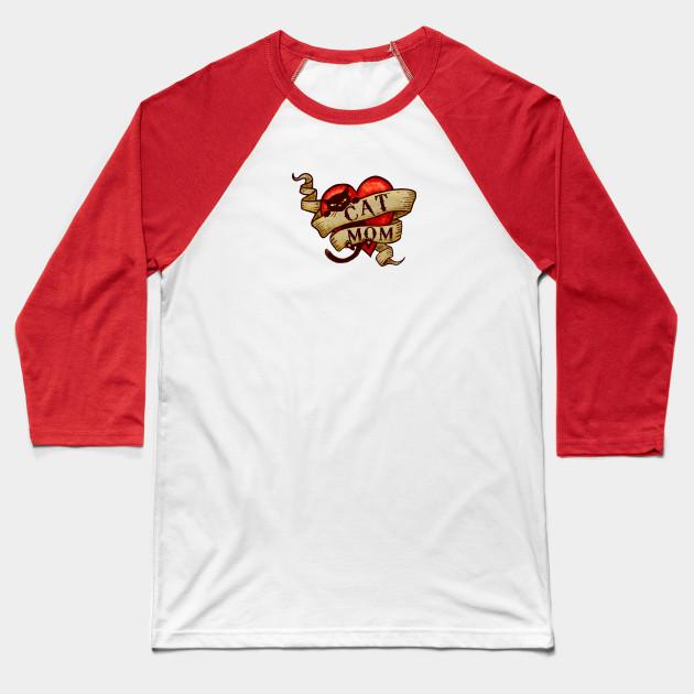 Cat Mom Baseball T-Shirt