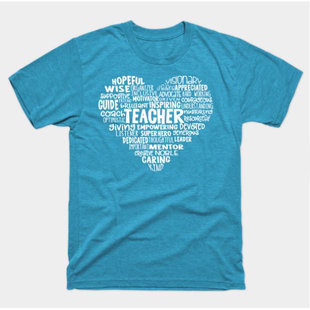 Teacher Heart Word Cloud