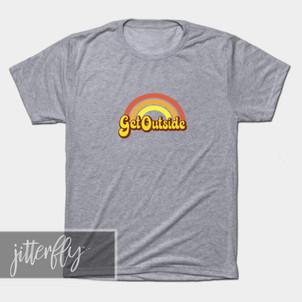 Get Outside Retro Rainbow Shirt