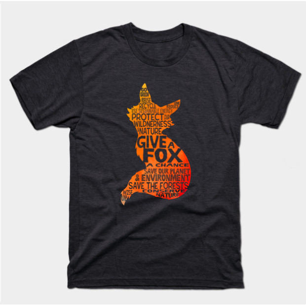 Give a Fox Save the Planet t-shirt