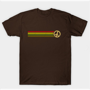 Retro Peace Stripes - Camo & Red Shirts & Gifts