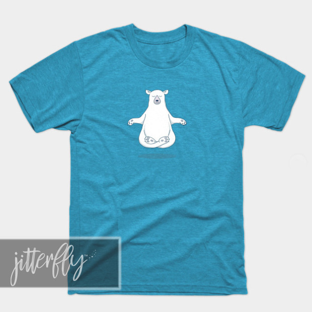 Meditating Polar Bear Shirts & Gifts